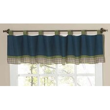 Construction Cotton Tab Top Tailored Curtain Valance