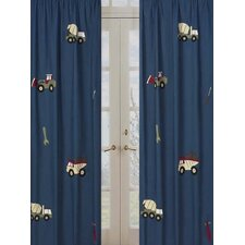 Construction Cotton Curtain Panel Pair