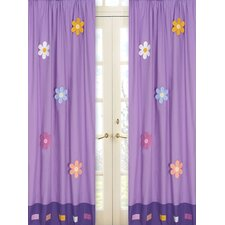 <strong>Sweet Jojo Designs</strong> Daisies Cotton Curtain Panel (Set of 2)