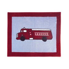 Fire Truck Collection Floor Rug