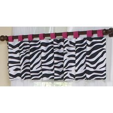 <strong>Sweet Jojo Designs</strong> Zebra Cotton Tab Top Curtain Valance