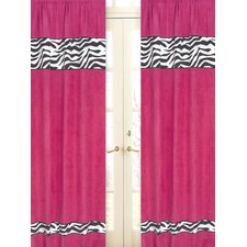 <strong>Sweet Jojo Designs</strong> Zebra Curtain Panel (Set of 2)