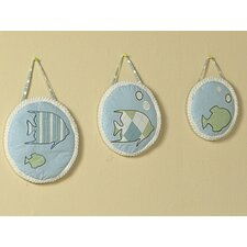 3 Piece Go Fish Hanging Art Set