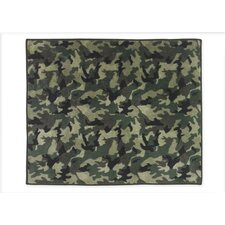 Camo Green Collection Floor Rug