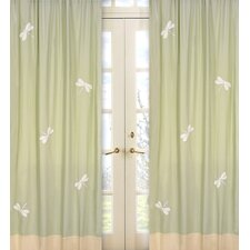 Green Dragonfly Dreams Curtain Panel (Set of 2)