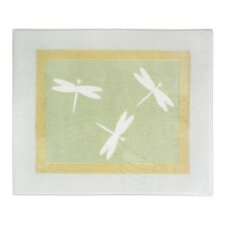 Green Dragonfly Dreams Collection Floor Rug