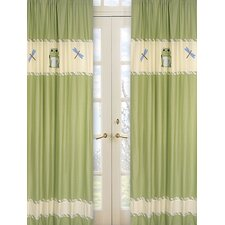 <strong>Sweet Jojo Designs</strong> Leap Frog Cotton Curtain Panel (Set of 2)
