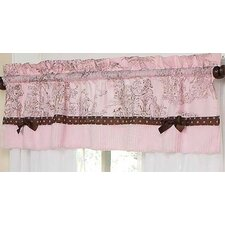 Pink and Brown Toile Cotton Curtain Valance