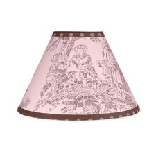 "10"" Pink and Brown Toile Lamp Shade"