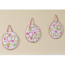 <strong>Sweet Jojo Designs</strong> Circles Pink Collection Wall Hangings
