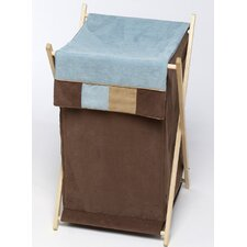 <strong>Sweet Jojo Designs</strong> Soho Blue and Brown Laundry Hamper