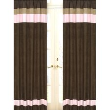 Soho Pink and Brown Curtain Panel (Set of 2)