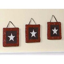 Wild West Cowboy Collection Wall Hangings (Set of 3)