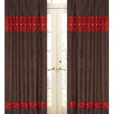 Wild West Cowboy Cotton Curtain Panel Pair