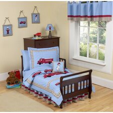 Frankie's Firetruck Toddler Bedding Collection 5 Piece Set