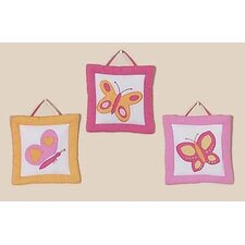 3 Piece Butterfly Wall Hanging Set