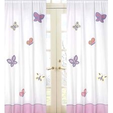 <strong>Sweet Jojo Designs</strong> Butterfly Cotton Curtain Panel (Set of 2)