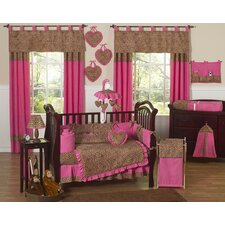 Cheetah Pink Crib Bedding Collection