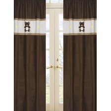 <strong>Sweet Jojo Designs</strong> Teddy Bear Pink Curtain Panel (Set of 2)
