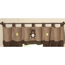 Teddy Bear Cotton Tab Top Tailored Curtain Valance