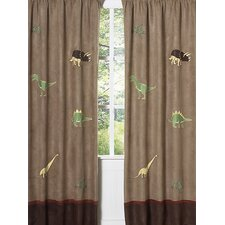 Dinosaur Land Curtain Panel (Set of 2)