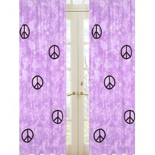 Purple Peace Curtain Panel (Set of 2)