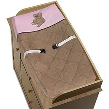 Teddy Bear Pink Collection Changing Pad Cover