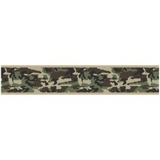 Camo Green Collection Wall Paper Border