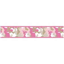 Camo Pink Collection Wall Paper Border