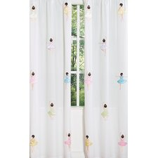 <strong>Sweet Jojo Designs</strong> Ballerina Curtain Panel (Set of 2)