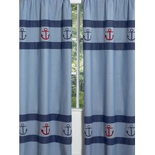 <strong>Sweet Jojo Designs</strong> Nautical Nights Curtain Panel (Set of 2)