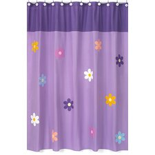 Daisies Cotton Shower Curtain