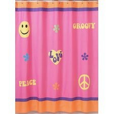 <strong>Sweet Jojo Designs</strong> Groovy Cotton Shower Curtain