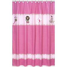 Jungle Friends Cotton Shower Curtain