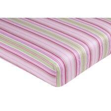 <strong>Sweet Jojo Designs</strong> Jungle Friends Striped Fitted Crib Sheet