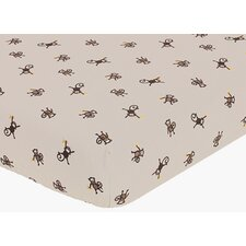 Monkey Fitted Crib Sheet