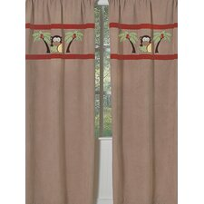 Monkey Curtain Panel (Set of 2)