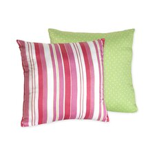 Olivia Decorative Pillow with Stripe and Dot Print