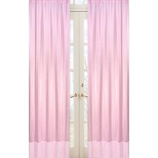 Chenille Pink Curtain Panels (Set of 2)