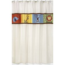 <strong>Sweet Jojo Designs</strong> Jungle Time Cotton and Microsuede Shower Curtain