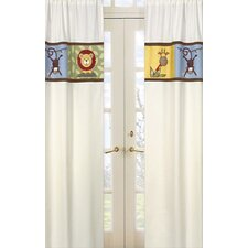 <strong>Sweet Jojo Designs</strong> Jungle Time Leaf Print Cotton Curtain Panel (Set of 2)