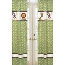 <strong>Sweet Jojo Designs</strong> Jungle Time Cotton Curtain Panel (Set of 2)