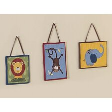 3 Piece Jungle Time Wall Hanging Set