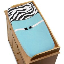 Zebra Turquoise Collection Changing Pad Cover