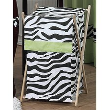 Zebra Lime Laundry Hamper