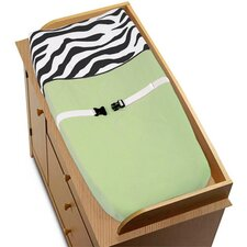 Zebra Lime Collection Changing Pad Cover