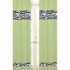 Zebra Curtain Panel Pair