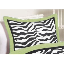<strong>Sweet Jojo Designs</strong> Zebra Lime Standard Pillow Sham