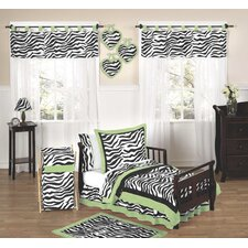 Zebra Lime Collection 5pc Toddler Bedding Set