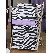 Zebra Purple Laundry Hamper
